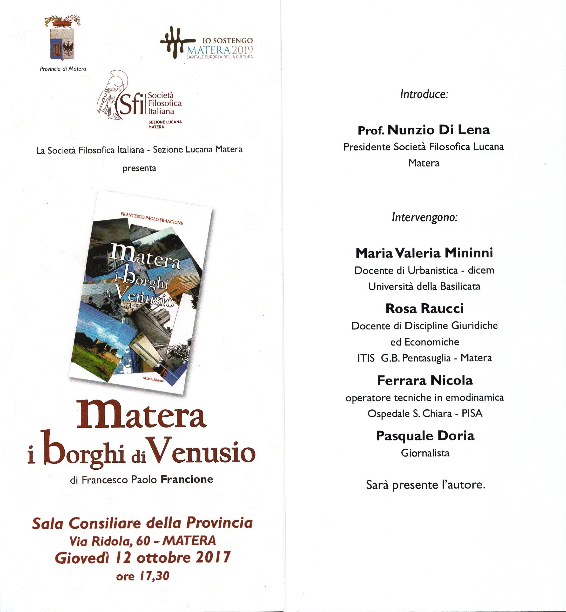 Matera. I borghi di Venusio di Francesco Paolo Francione