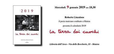 """Presentazione del calendario 2019 """"La terra dei cuochi"""" di Roberto Linzalone"""